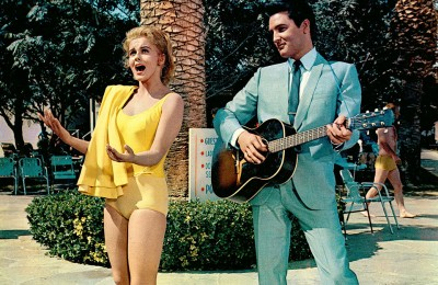 Elvis singing with a girl