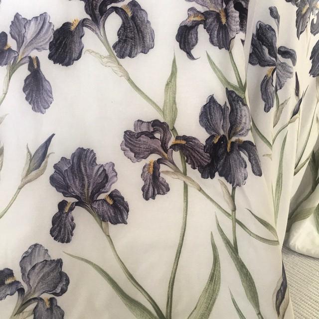 Hand painted irises #artisan