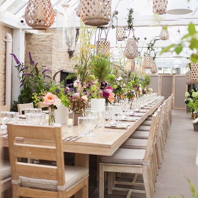 The Glass House at the farm, all set for a private dinner @daylesfordfarm #events #venue #cotswolds #organic