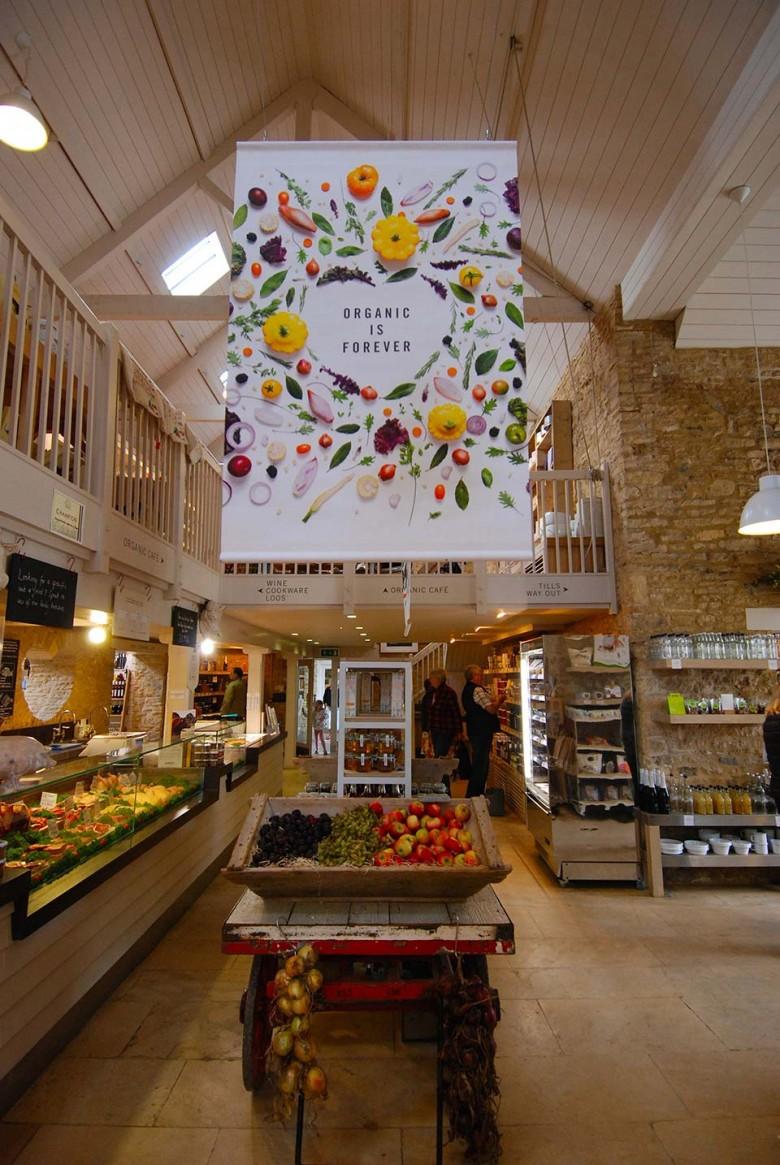 Inside Daylesford Farm store