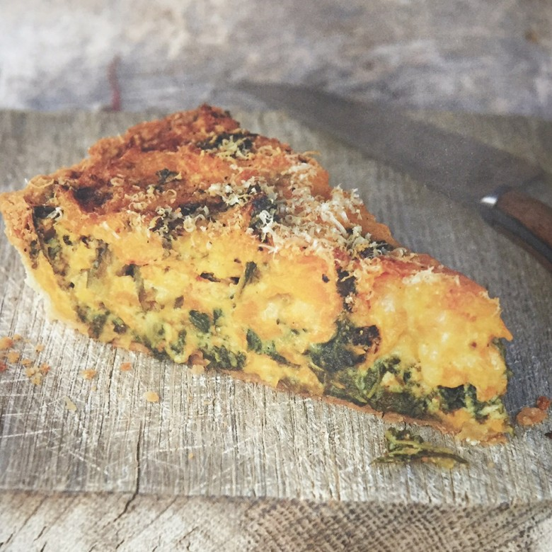 Butternut Squash and Kale Tart