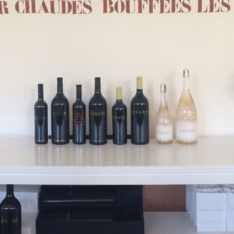 A collection of wines from Château Léoube