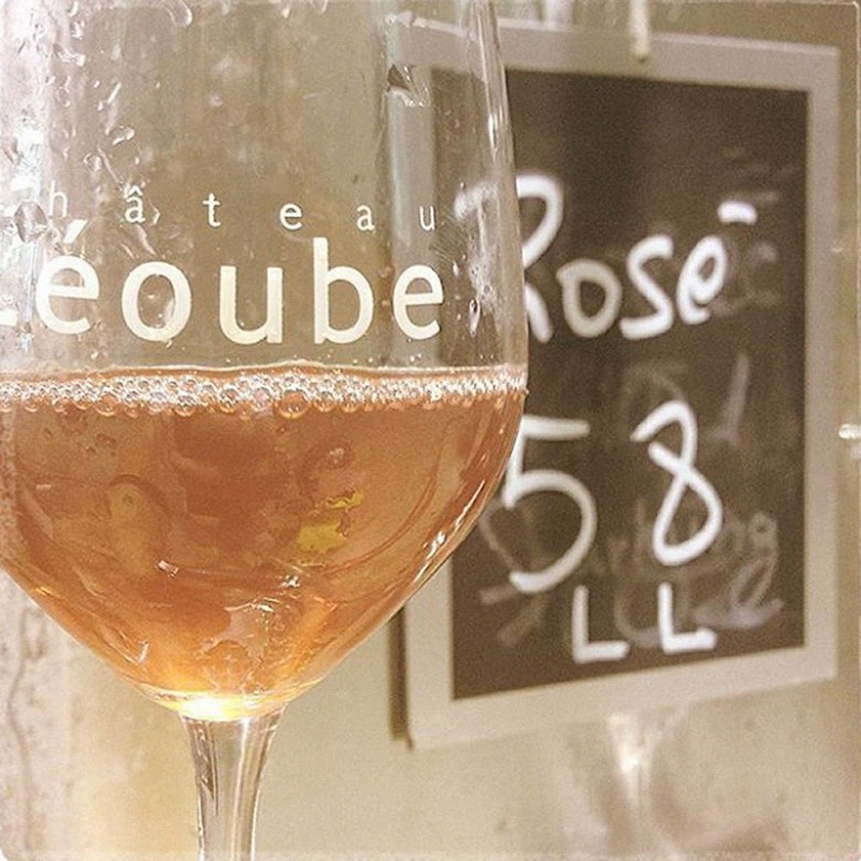 A glass of Rosé from Château Léoube