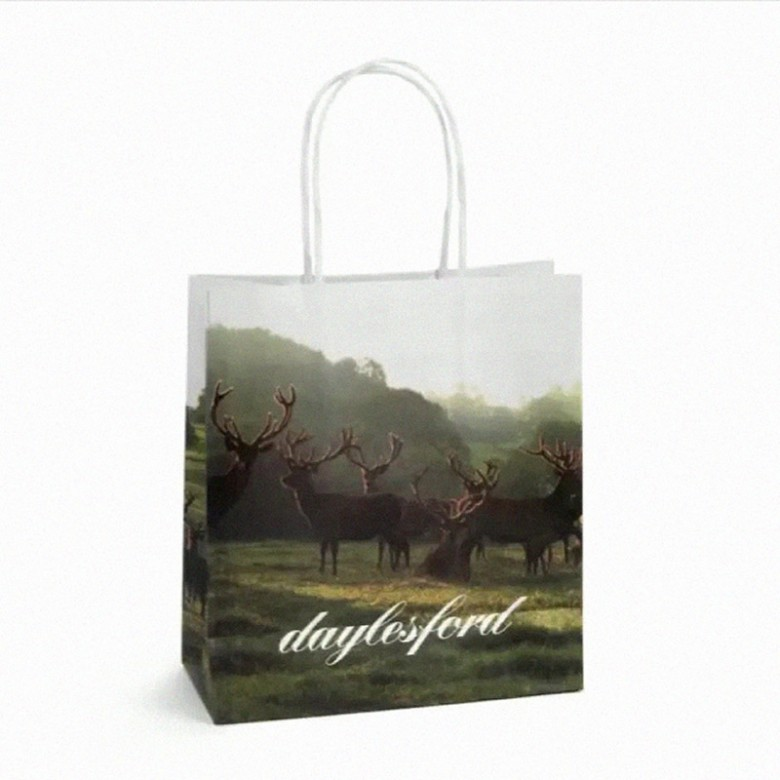 An eco-friendly, paper shopping bag from Daylesford