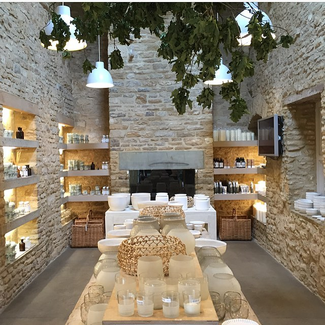 Votives, vases and bowls in the Garden Room - perfect for summer dining @daylesfordfarm #peace #love #picnic #homeware #artisan #summer #tableware #candles #ceramics #glassware