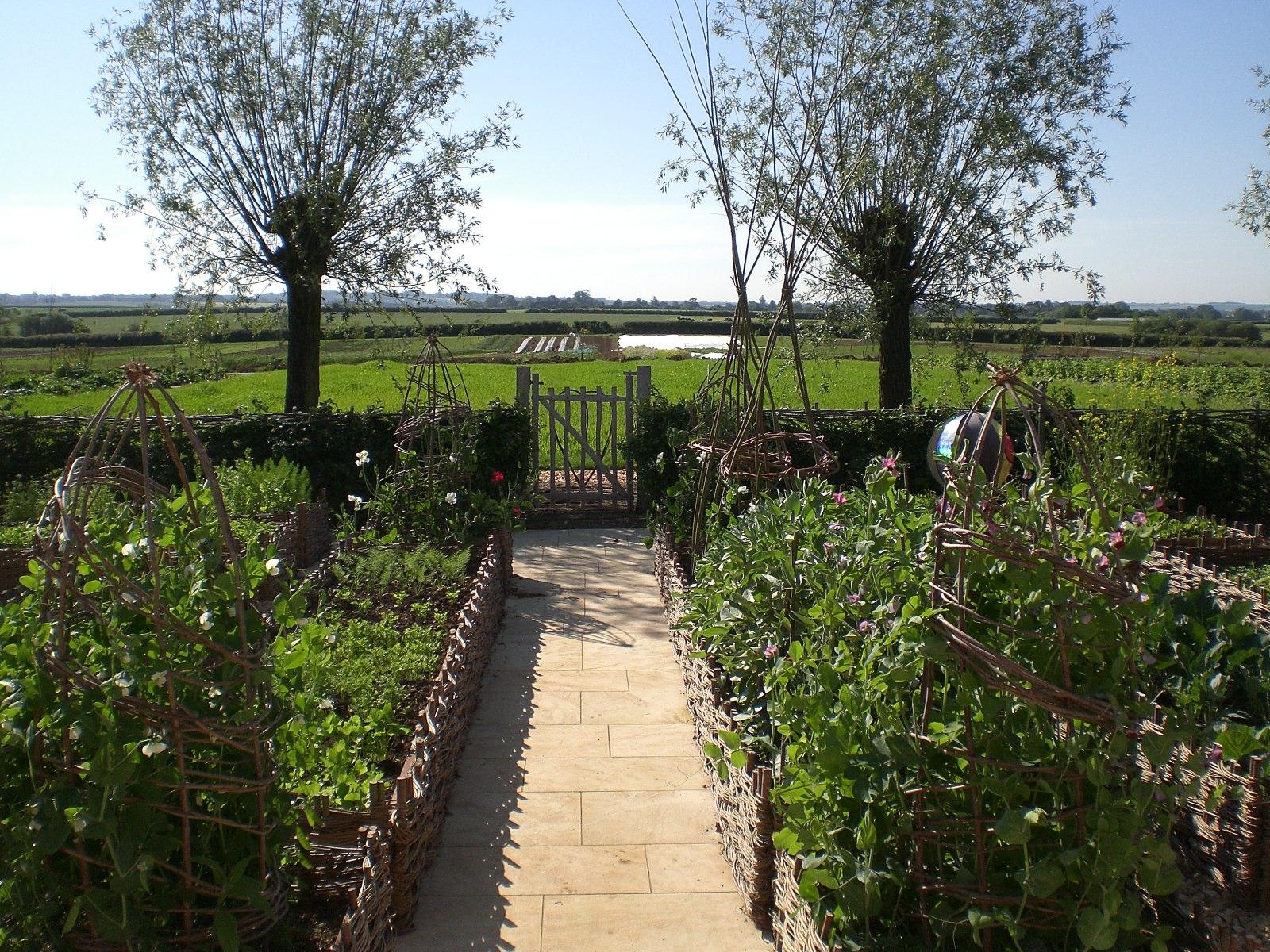 Farm Herb Garden in English countryside