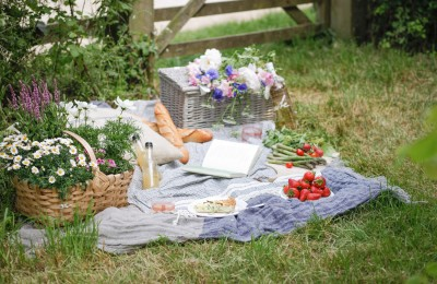 Close up of Bamford and Daylesford Picnic in the country side.