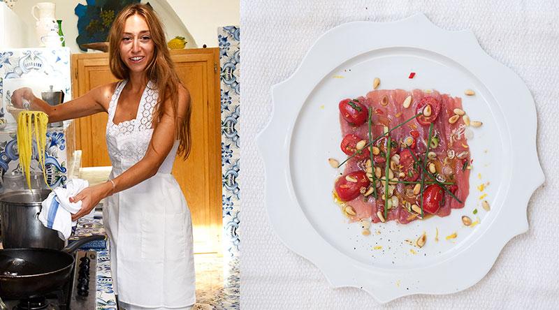 Nina Parker cooking