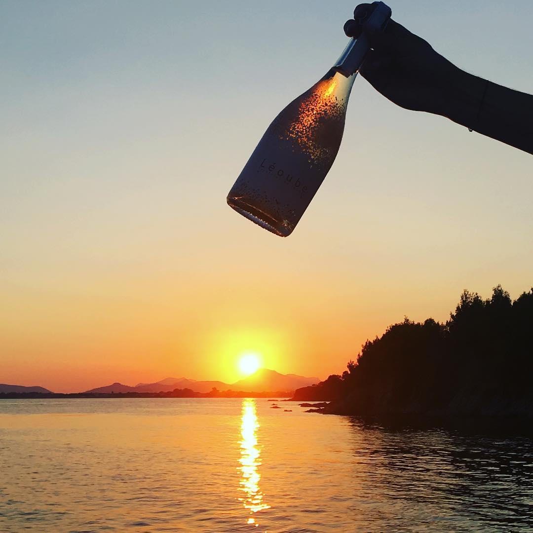 Drinks at sunset #Leoube #biodynamic