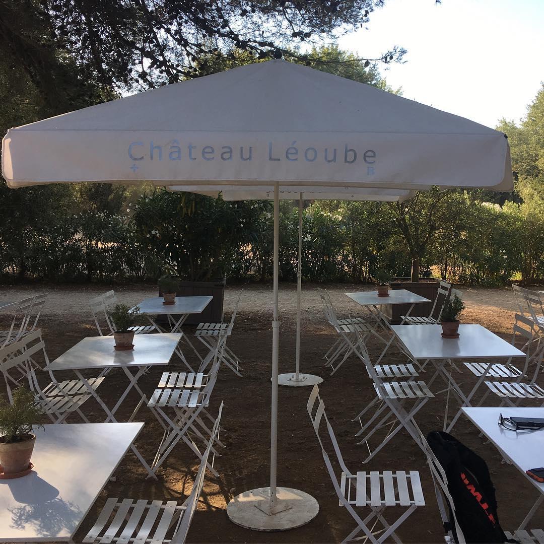Breakfast at cafe Leoube #plagedepellegrin #hyeres