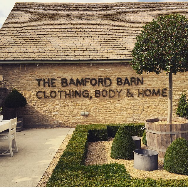 Living moss signage at the Bamford Barn #nature #moss #autumn #cotswolds #clothing #body #home @bamfordjournal @daylesfordfarm