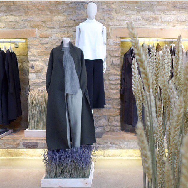 Beautiful display in the Bamford Barn #autumn #harvest #nature #cotswolds #cashmere #artisan @bamfordjournal
