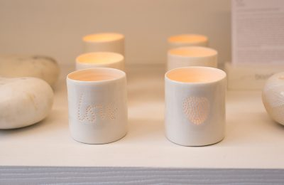 Rows of Bamford Ceramic Candle Holders
