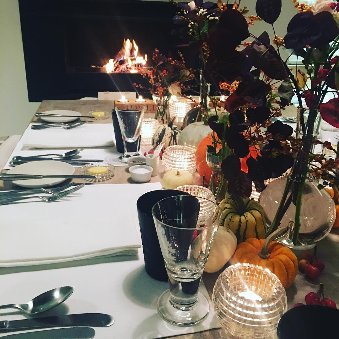 Cosy supper In the kitchen last night after fireworks #cosy #autumn #supper #tabletop
