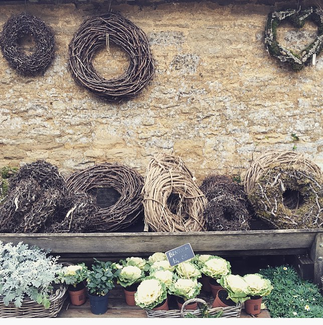 Getting ready for a busy month of wreath making in the Garden Room #christmas #wreaths #gardenroom #cotswolds @daylesfordfarm