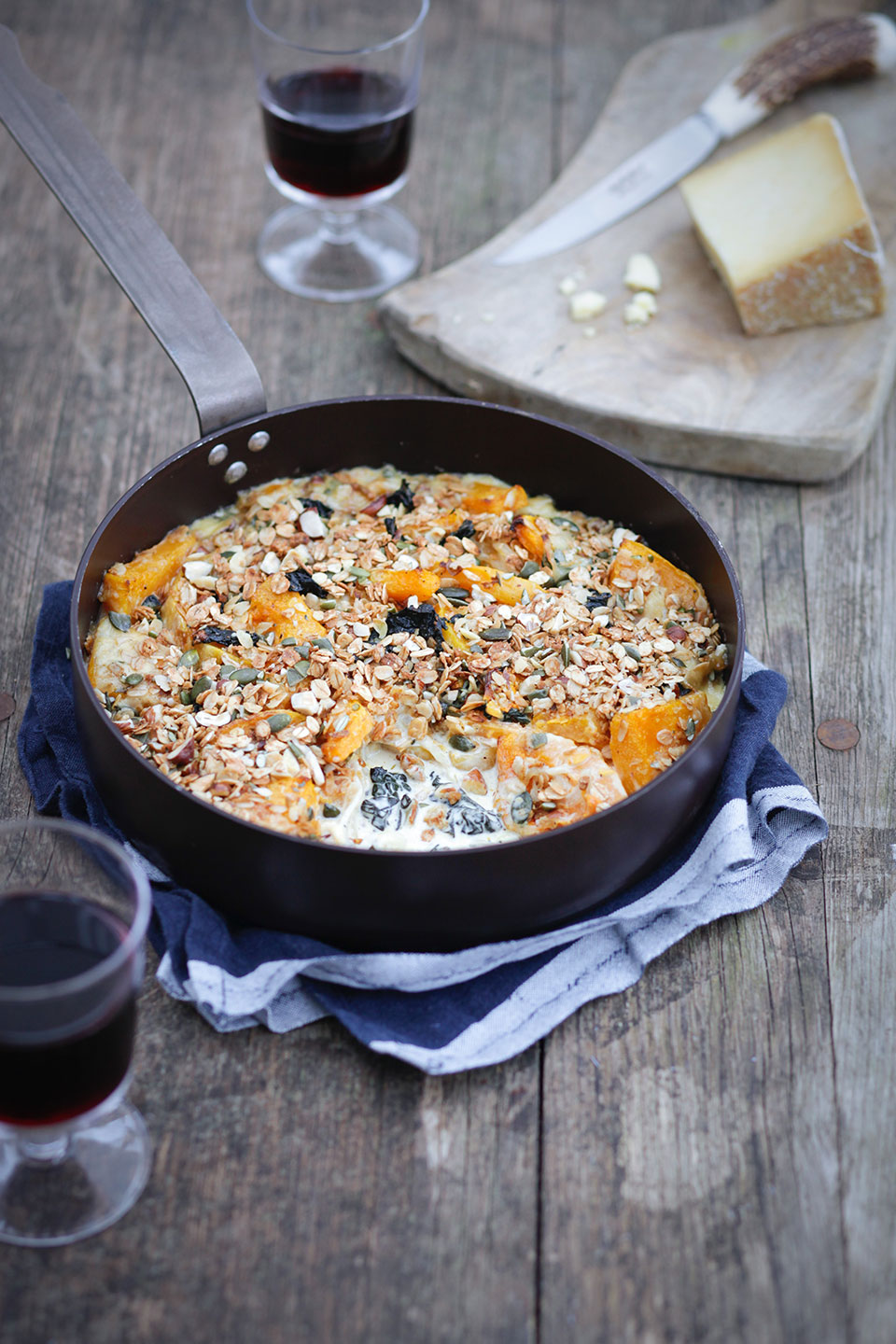 BUTTERNUT SQUASH, ADLESTROP CHEESE AND CAVALO NERO CRUMBLE