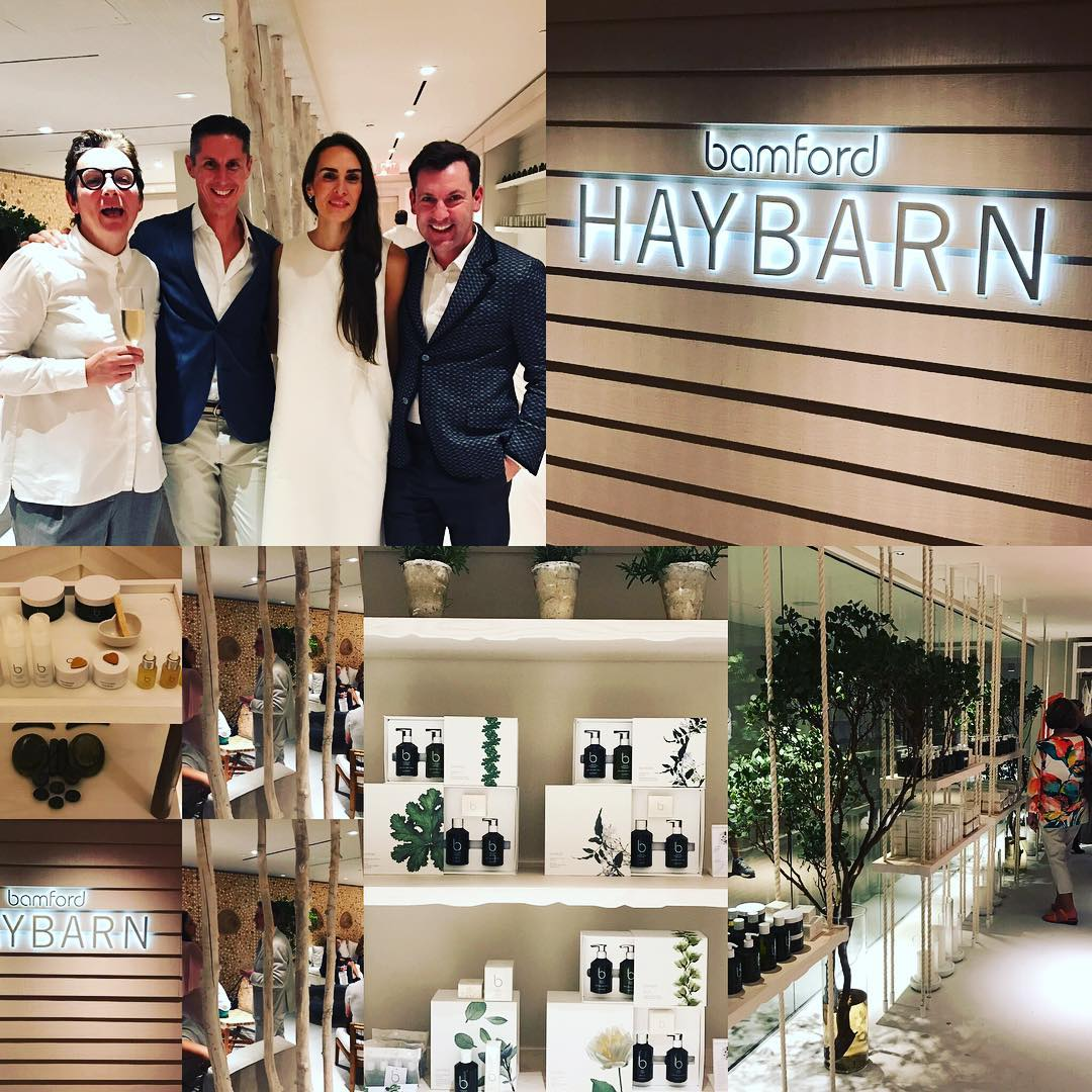The first bamford Haybarn spa opened last night at the 1 Hotel South Beach Miami. Happy to be partnering with Barry who has the same value s #sustainableluxury #conciousshopping  #nuturenature #spencerfung #mathewkenneyculinary #1hotelsouthbeach