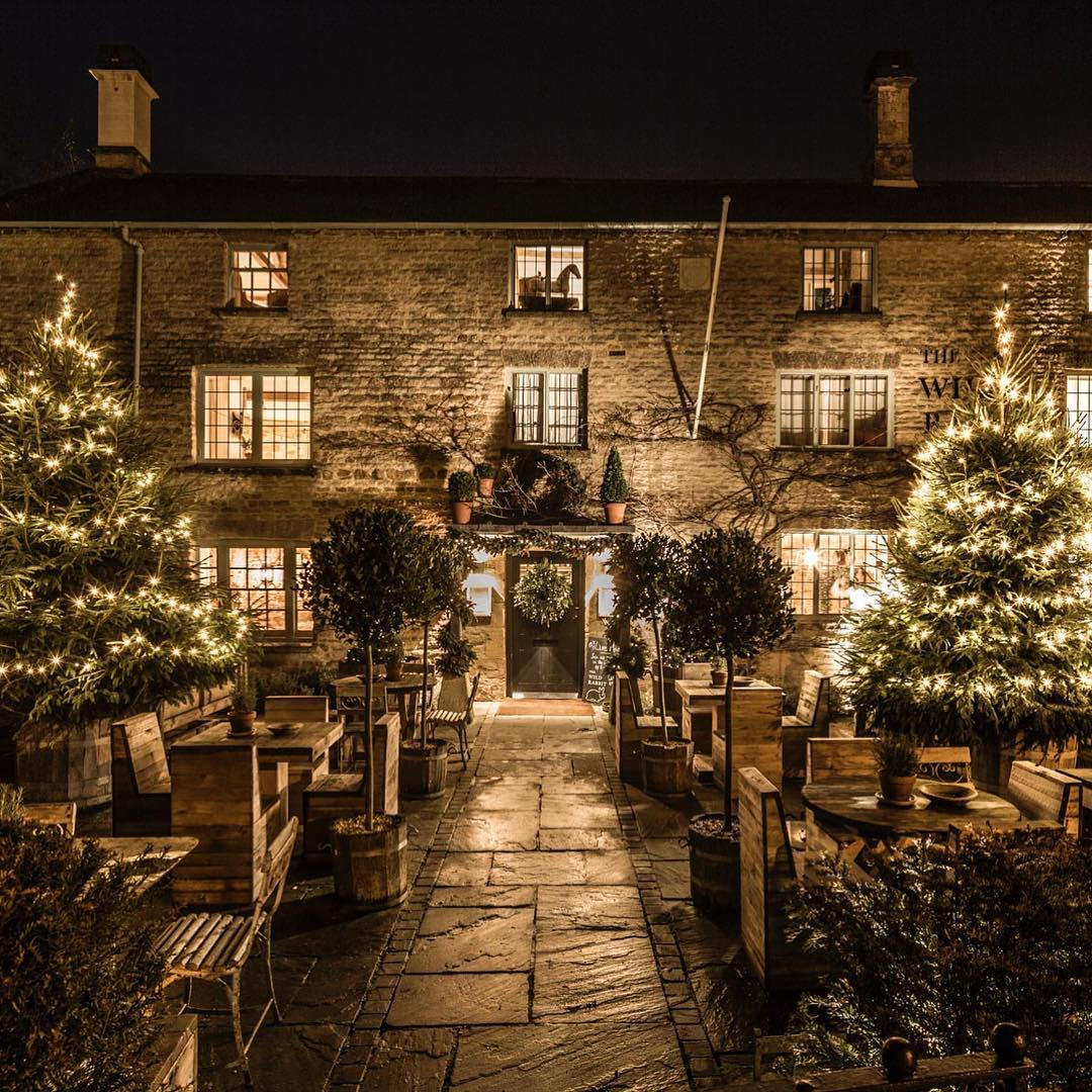 The fires are lit and the lights are on at The Wild Rabbit, all ready for a special Christmas weekend #magical #cotswolds #christmas @thewildrabbitkingham