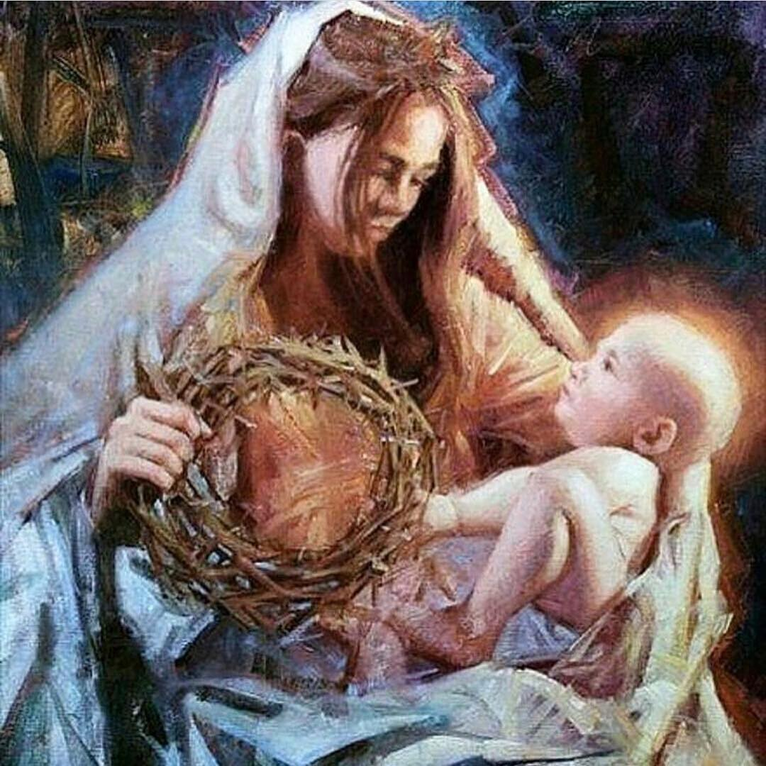 Happy Christmas. Wishing you all love light and laughter. #christmasday #madonnaandchild #jesusisborn