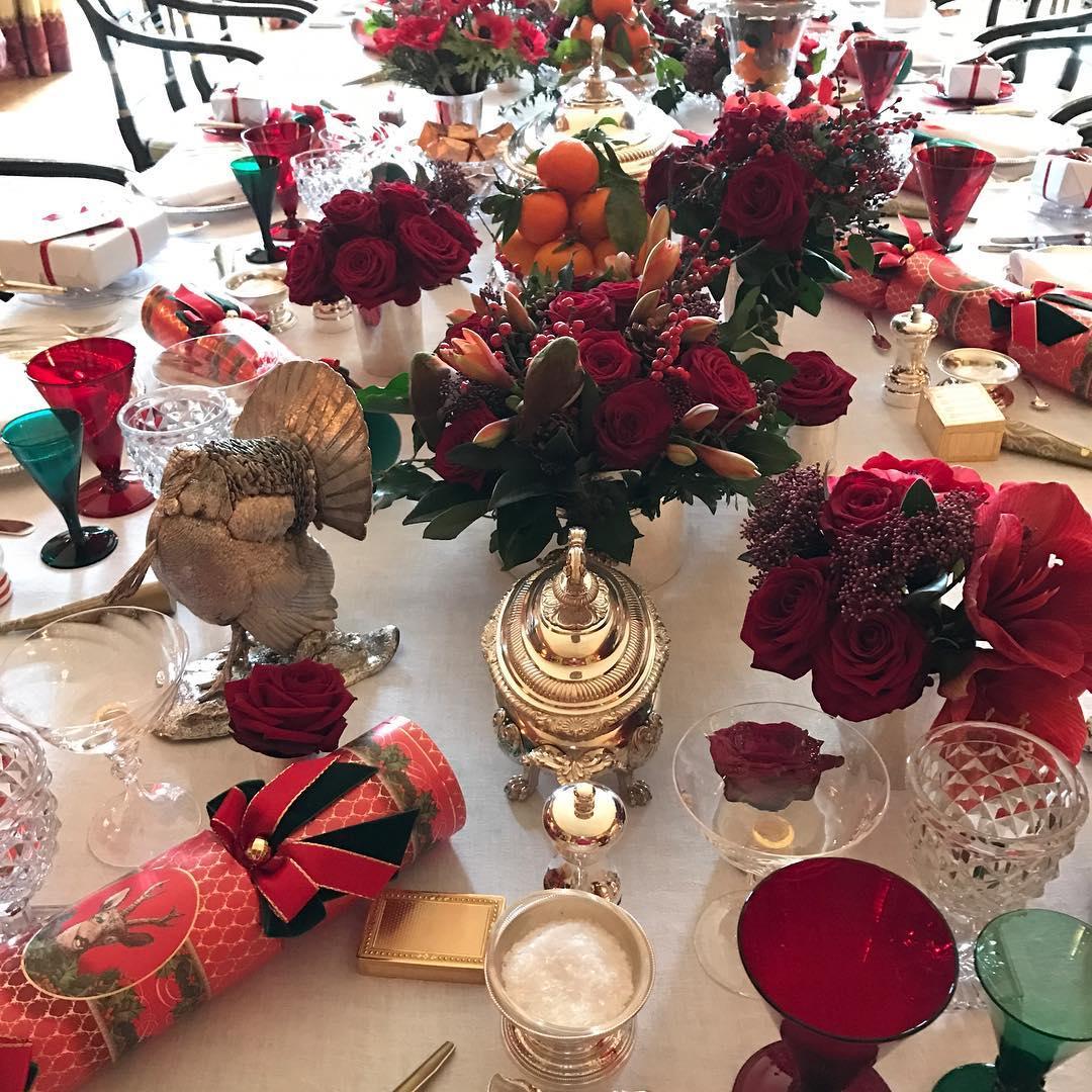 Christmas table #tabletop #Christmas