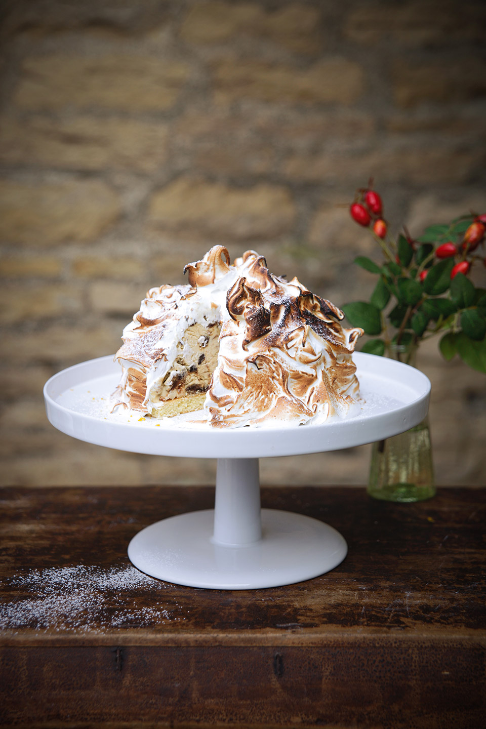 Christmas Pudding Baked Alaska