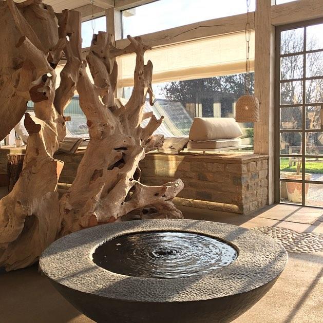 A moment of reflection in the Haybarn Spa #mindfullness #reflection #meditation #feedyourmind @bamfordhaybarnspa