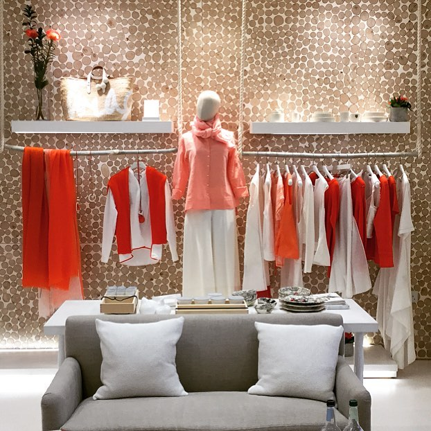 It may be cold outside but spring has arrived in the Bamford stores #coral #white #spring #summer #artisan #madebyhand #sustainableluxury @bamfordjournal