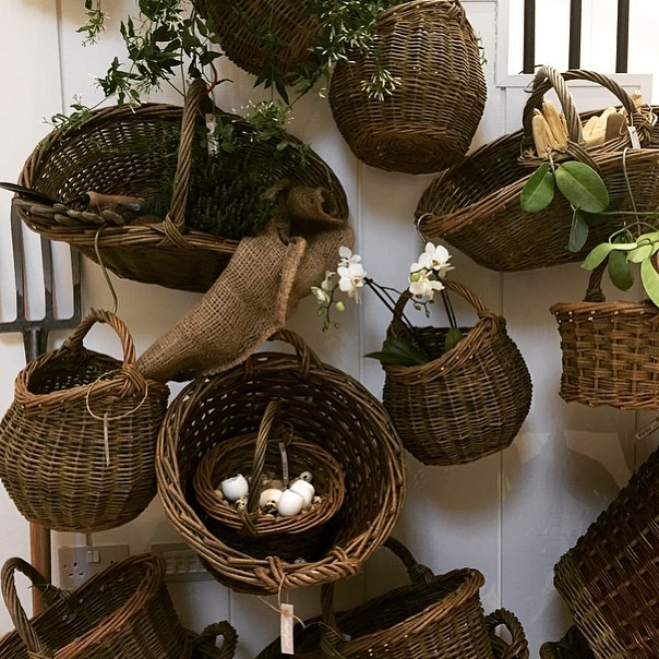 Baskets for foraging in the Garden Room #nature #spring #foraging #baskets @daylesfordfarm
