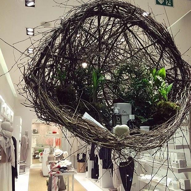 Easter nests at Bamford #easter #spring #nest #sustainable #natural #design @bamfordjournal #southaudleystreet