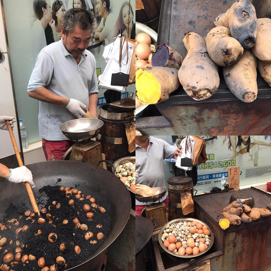 Love street food #chestnuts #sweetpotato #eggs #streetfood #hongkong