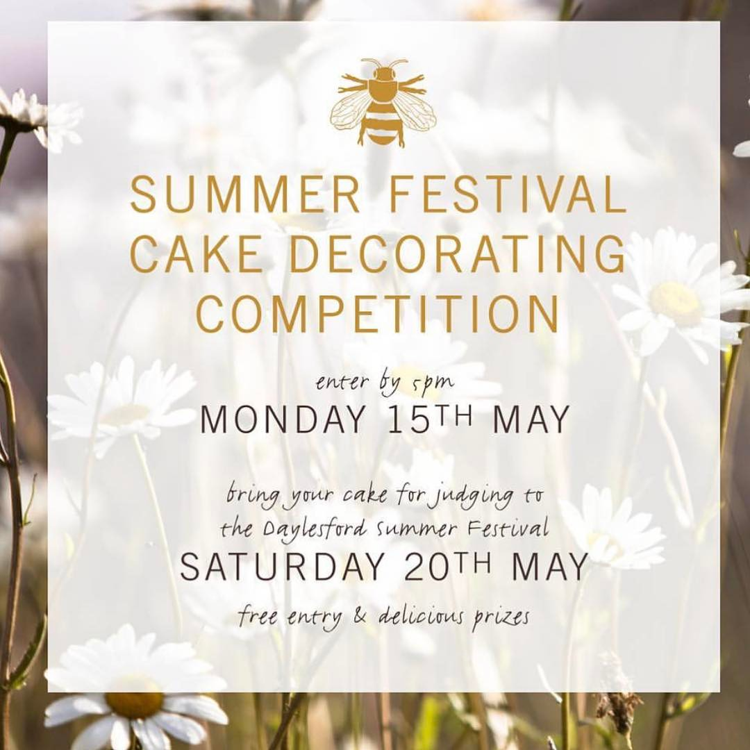Only one week to go. Get baking girls kids class as well #summerfestival @daylesfordfarm