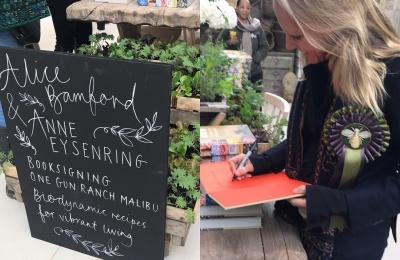 Book signing @daylesfordfarm very proud 😊👏