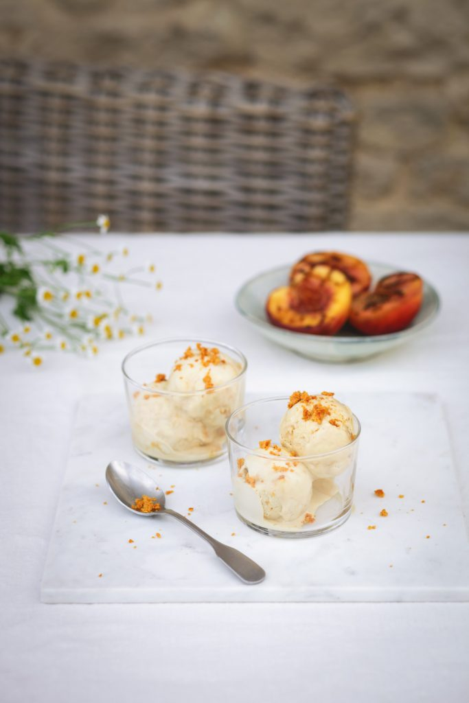 Chamomile and Honeycomb Ice Cream