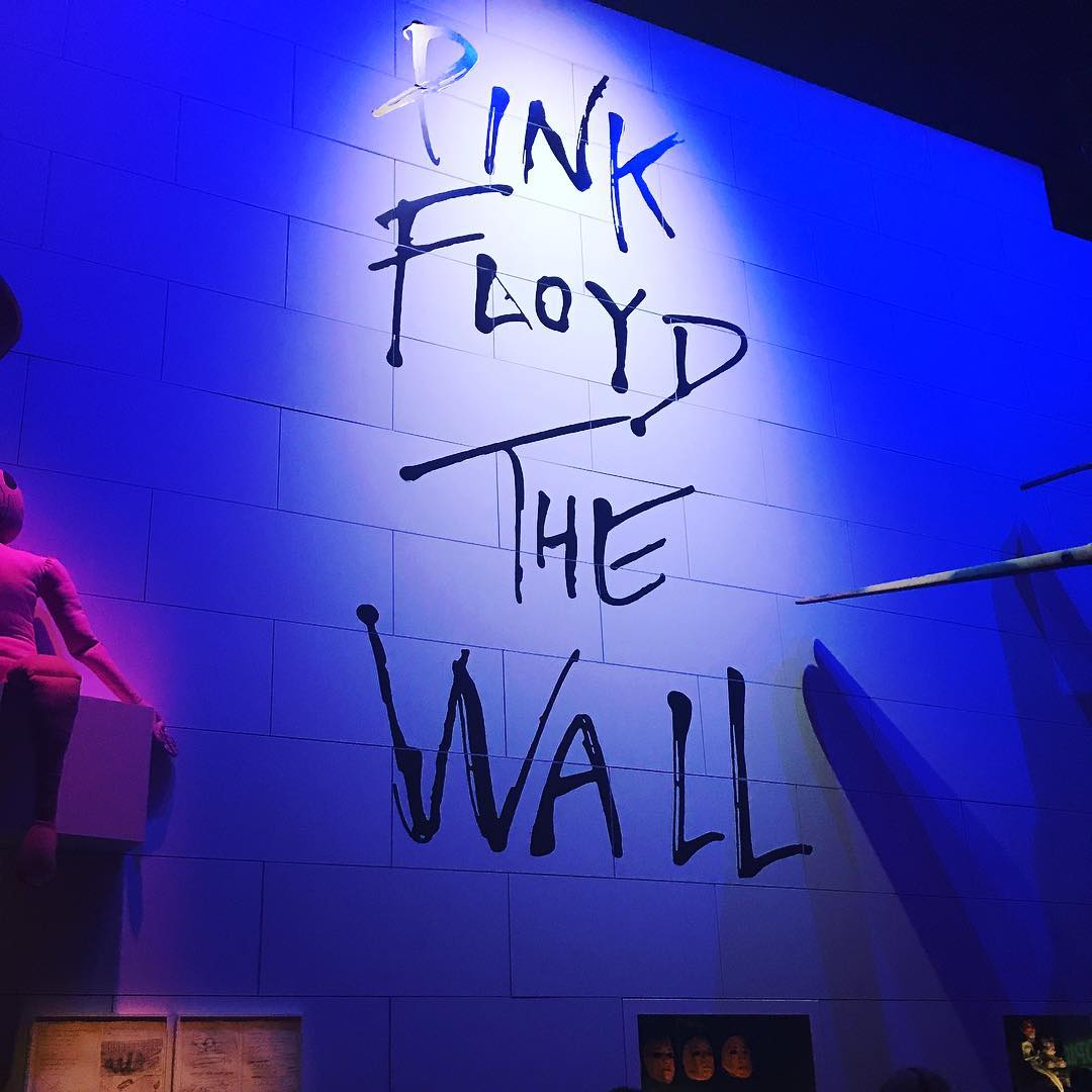 The marvellous Pink Floyd Exhibition at the V and A. So cool Thank you Nick Mason #brilliant #aheadofthecurve #pinkfloyd #victoriaandalbert #museum