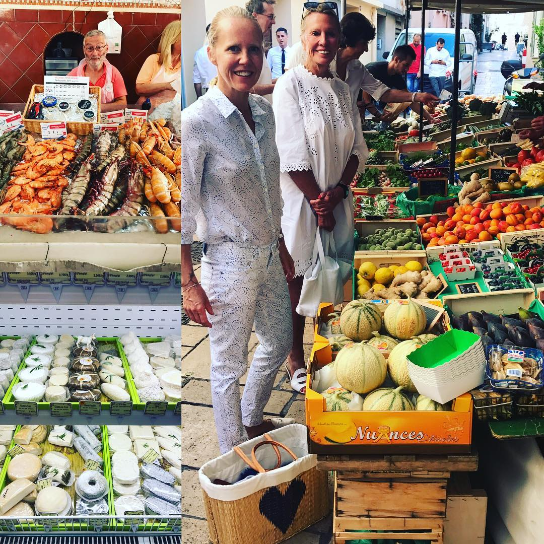 Doing what we love #sttropez #foodshopping #markets