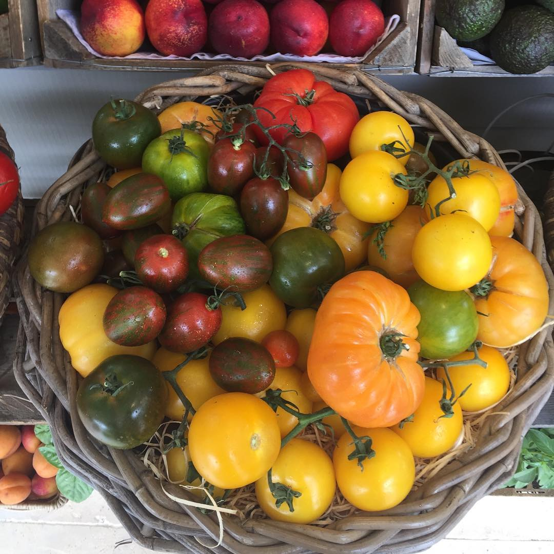 Juicy heritage tomatoes - delicious as a simple salad with burrata #heritage #seasonal #organic #fieldtofork @daylesfordfarm