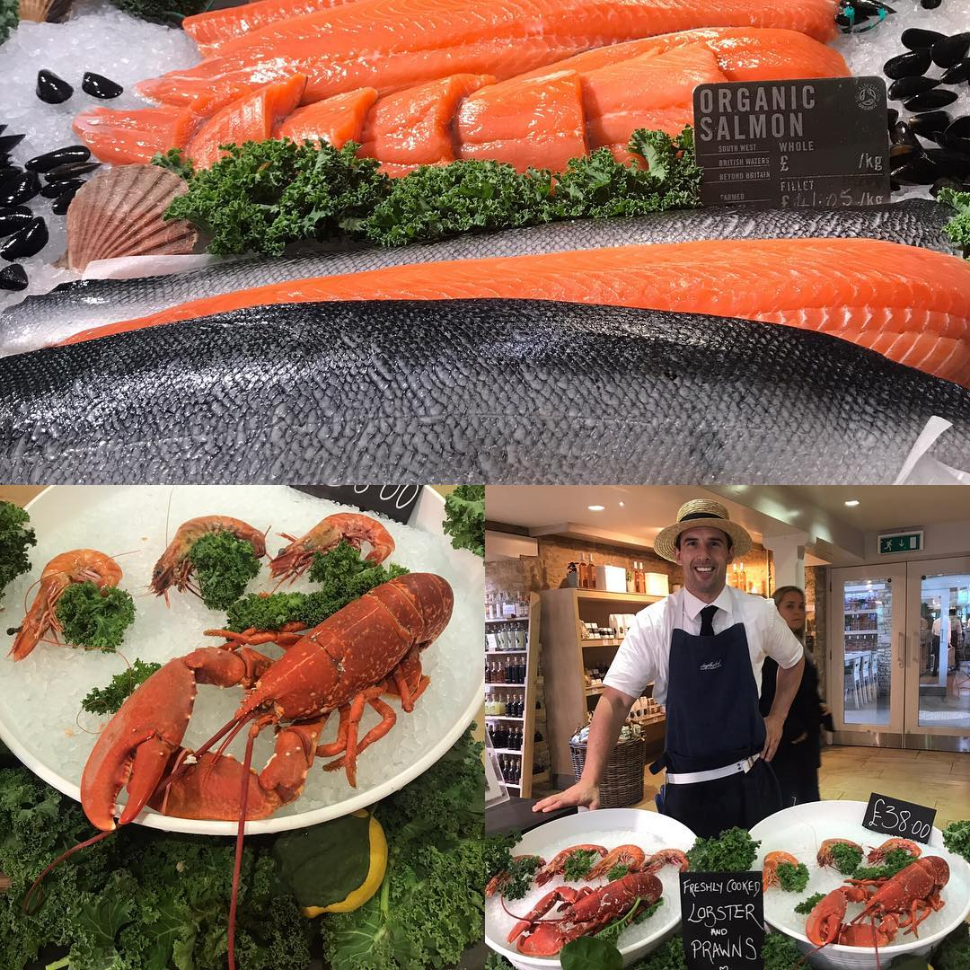 Great fish counters @daylesfordfarm arriving at our stores in London #eattobehealthy #wellbeing #sustainable #fish #organic