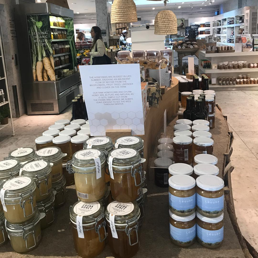 Our own honey has arrived in stores @daylesfordfarm #honey #savethebees #nuturenature