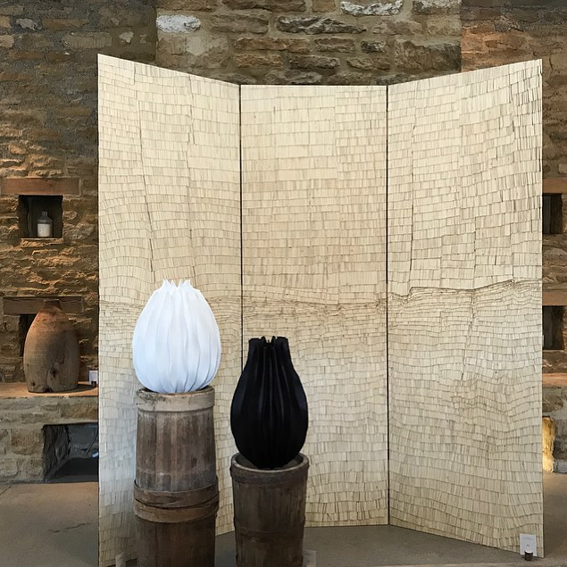 Beautiful works from Sarah Myerscough Gallery in the Bamford Barn #inspiredbynature #handcrafted #wood #design #craft @bamfordjournal @sarah_myerscough