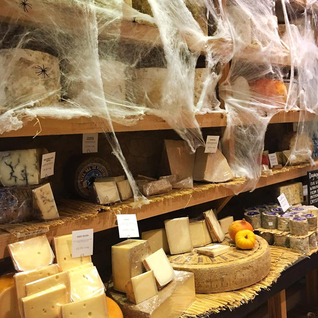 Things are looking spooky in the cheese room @daylesfordfarm #Halloween #Daylesford #organic #cheese #artisan