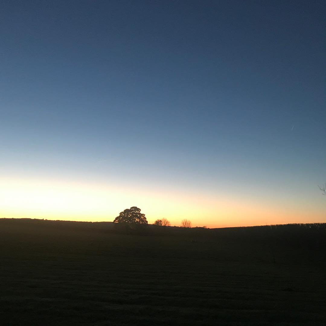 Saturday morning beautiful sunrise #dogwalk #Cotswolds #nature
