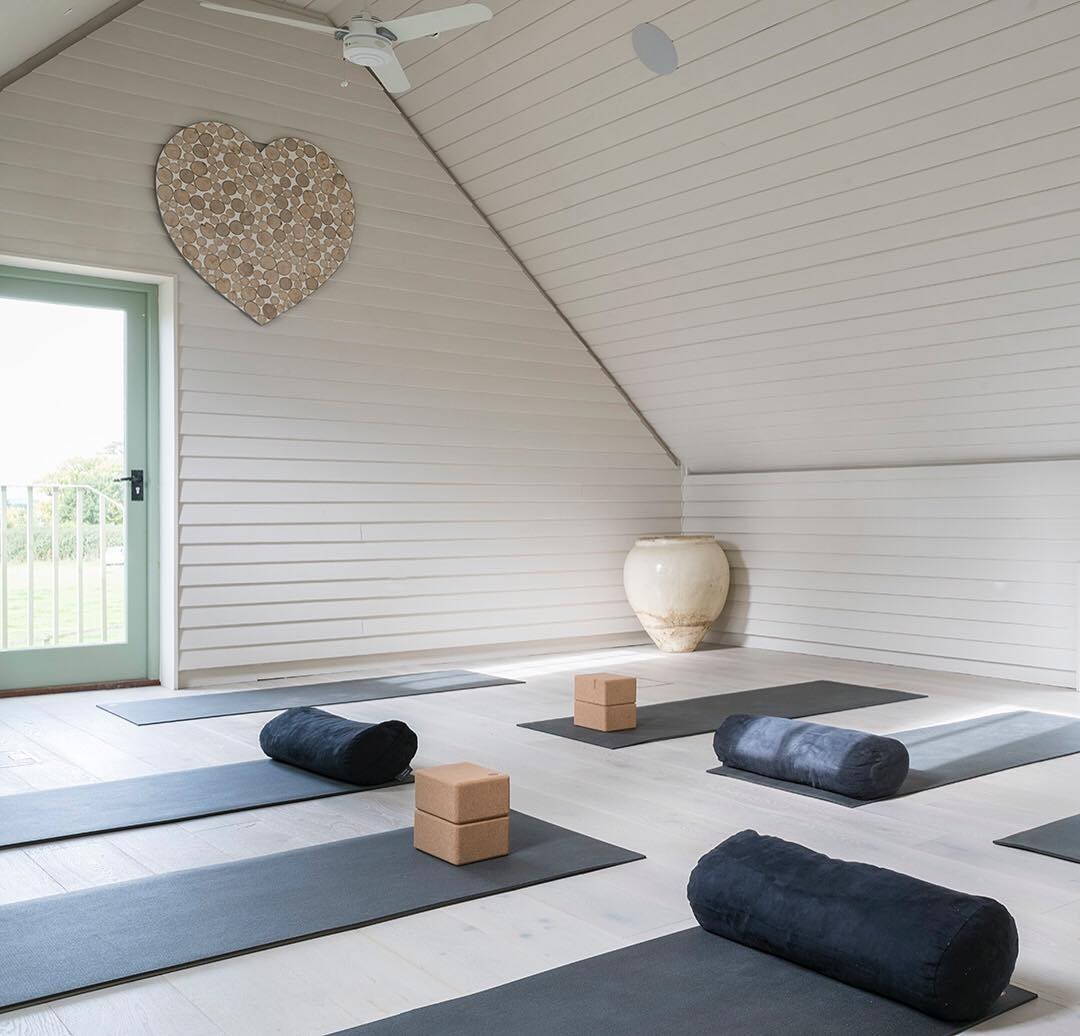 Natural light in the @bamfordhaybarnspa at Daylesford and a calm space for our restorative yoga and meditation classes. So many of our guests come to us at the Haybarn Spa with the simple goal of learning how to manage stress. Stress impacts everything from the digestive system to mood, sleep, the immune system and ones sense of emotional wellbeing too. Being still, peaceful and quiet, even just for an hour a day, can be such a healing practice #yoga #mindfulness #meditation #natural #peace #quiet #calm #wellness #wellbeing