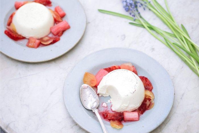Nurture, Daylesford - panna cotta poached rhubarb-min (1)