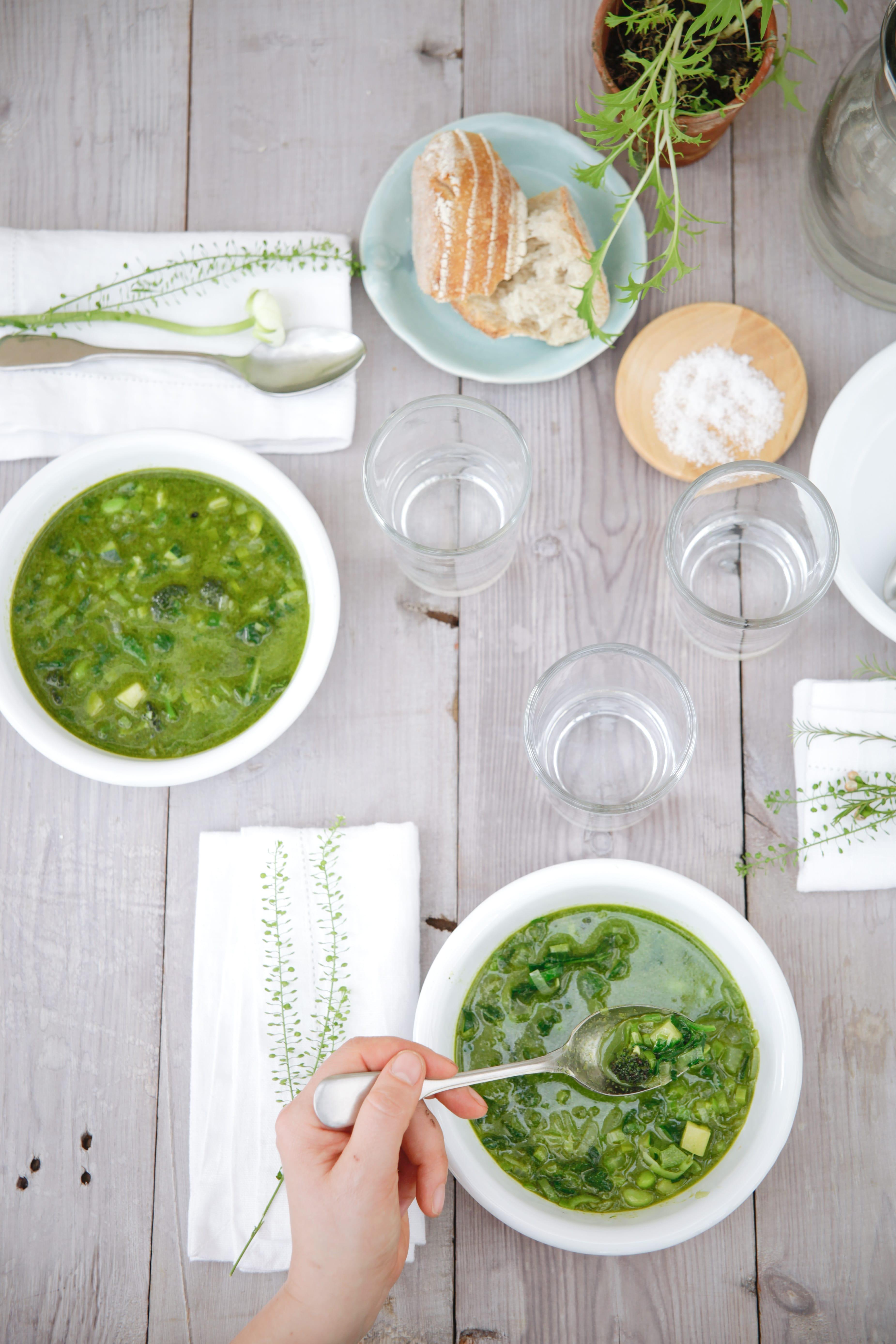 Nurture, Daylesford - spring green minestrone-min