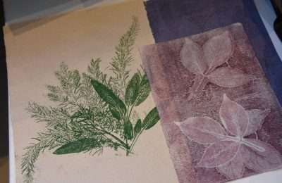 Creating art from nature: printing with plants at the farm