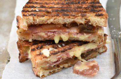 Close up of a Toastie